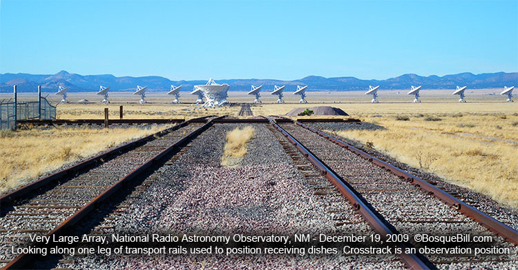 VLA antennas showing transport rails