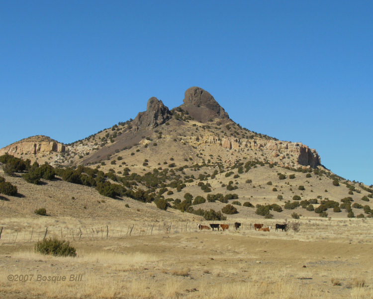 Volcanic stem near Seboyeta, New Mexico